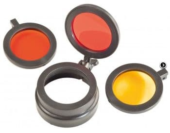 Clulite A69 Red Amber Yellow Hinged Flip up Filters for Pro Spotter, PL400 and PLR400