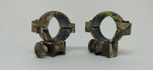"Hawke Sports Scope Mount rings 1"" ring 9-11mm Dovetail Medium Height Camo"