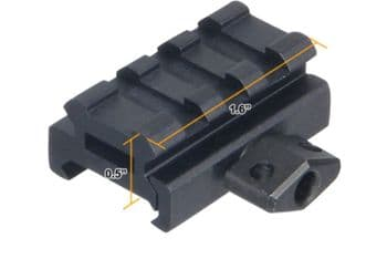 "Leapers UTG 0.5"" height 3-Slot Compact Riser Mount for Weaver Picatinny Base Rails - MNT-RS05S3"