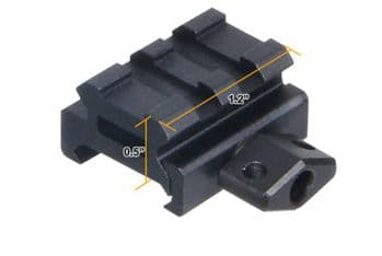 """Leapers UTG 0.5"""" high 2-Slot Low Super Compact Riser Mount Weaver Picatinny Base - MNT-RS05S2"""
