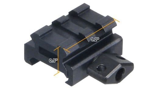 "Leapers UTG 0.5"" high 2-Slot Low Super Compact Riser Mount Weaver Picatinny Base - MNT-RS05S2"