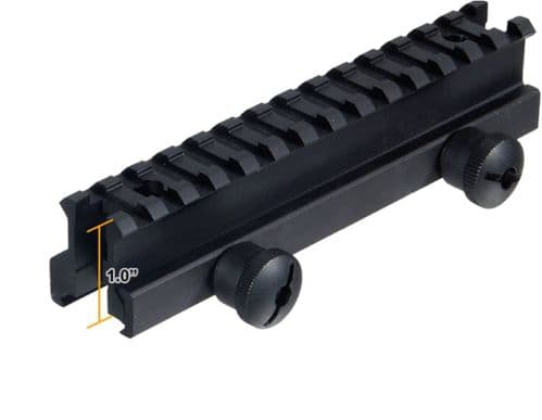 "Leapers UTG 1"" High 13-Slot Full Size Riser Mount Weaver Picatinny Base MNT-RS10L"