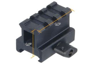 "Leapers UTG 1"" High 3-Slot Hi-Profile Compact Riser Mount Weaver Picatinny Base - MNT-RS10S3"