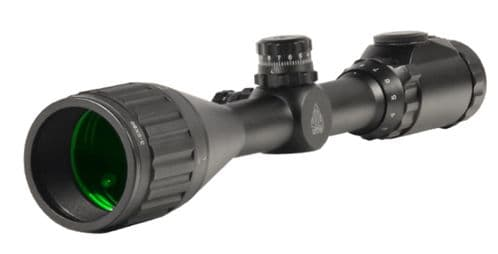 """Leapers UTG 3-9x50 1"""" Hunter Scope, 5yds AO, 36-color Mil-dot, Picatinny Rings SCP-U395AOIEW"""