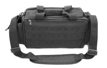 """Leapers UTG All-in-1 Range/Utility Go Bag 21""""x9""""x8"""" Black - 600D polyester, multi Padded compartment"""