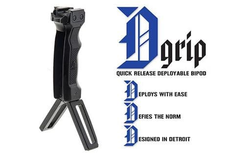 Leapers UTG D-Grip with Ambi Quick Release Deployable Bipod MNT-DG02Q