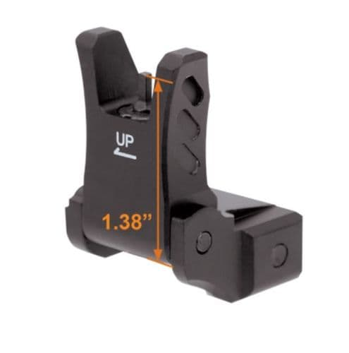 Leapers UTG Low Flip-up Front Sight for AR Platform Handguard Rail/High Gas Block MNT-755
