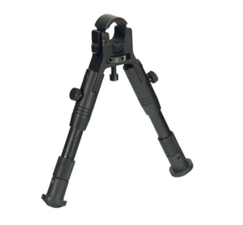 """Leapers UTG Reinforced Barrel Clamp-on Bipod 6.2-6.7"""" Center Height TL-BP18S-A"""