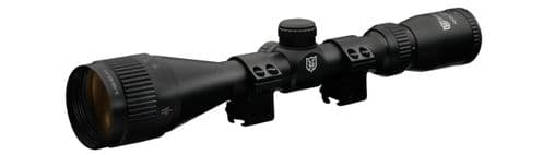 Nikko Mountmaster 3-9x40 Parallax AO Half Mil Dot Rifle Scope with 9-11mm Mount Rings