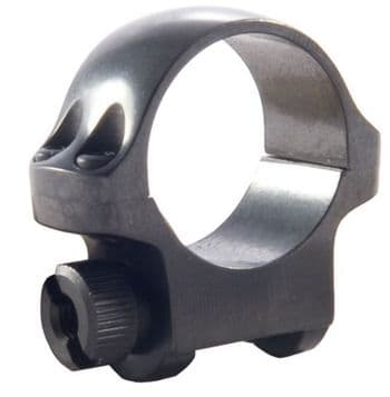 """Ruger 3B Mount Ring - 1"""" Blued Alloy Low Height for upto 32mm scope lens - 90269"""