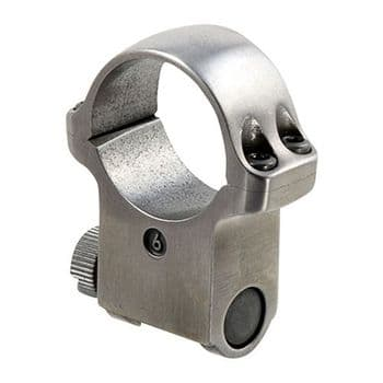 """Ruger 6K 1"""" Stainless Extra High Rifle Scope Mount Ring for KM77,K77,10/22,K1,Redhawk"""
