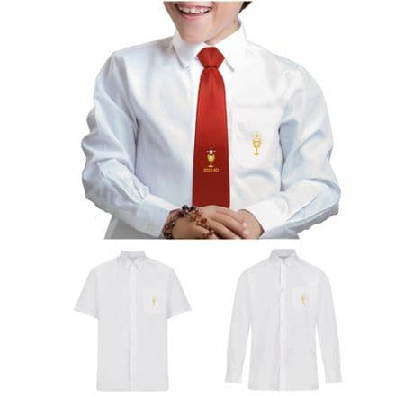 FIRST HOLY COMMUNION EMBROIDERED LONG/SHORT SLEEVE SHIRT