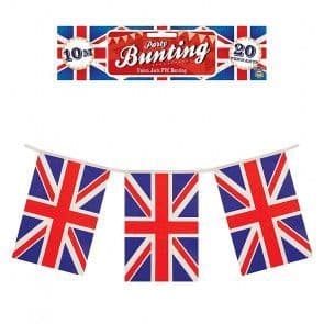 10m Party Bunting - Union Jack - Great Britain - 20 Flags