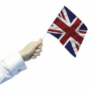 12 x Hand Waving Flags - Union Jack - Great Britain