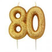 AGE EIGHTY GOLD GLITTER CANDLE (1)