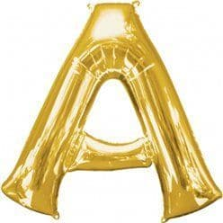 Gold Letter A Balloon - 16