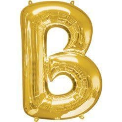 Gold Letter B Balloon - 34