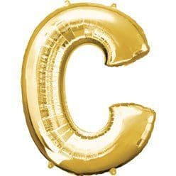 Gold Letter C Balloon - 34