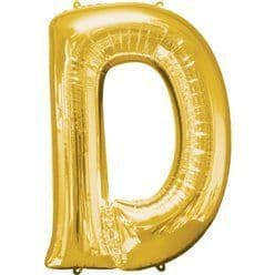 Gold Letter D Balloon - 34