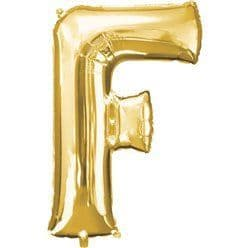 Gold Letter F Balloon - 16