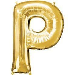 Gold Letter P Balloon - 34