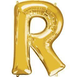 Gold Letter R Balloon - 16