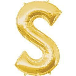 Gold Letter S Balloon - 34