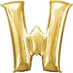 Gold Letter W Balloon - 16