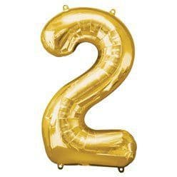 Gold Number 2 Balloon - 34