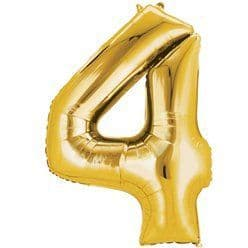 Gold Number 4 Balloon - 16