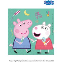 NEW Peppa Pig 2-ply Party Napkins 20pk