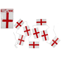 NEW St George's Flag Plastic Bunting 20ft