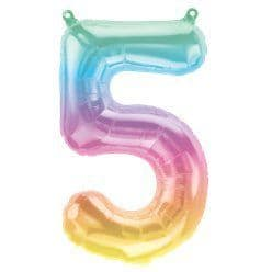Pastel Ombre Number 5 Balloon - 16