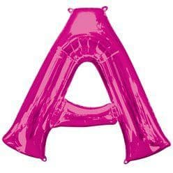 Pink Letter A Air Filled Balloon - 16