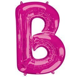 Pink Letter B Air Filled Balloon - 16