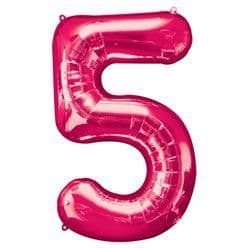 Pink Number 5 Balloon - 34