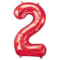 Red Number 2 Balloon - 34