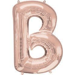 Rose Gold Letter B Balloon - 34