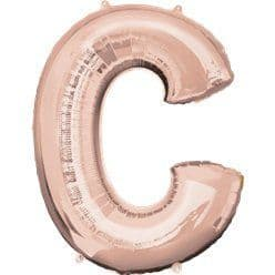 Rose Gold Letter C Balloon - 34