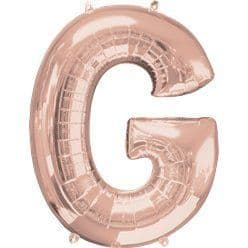 Rose Gold Letter G Air Filled Balloon - 16