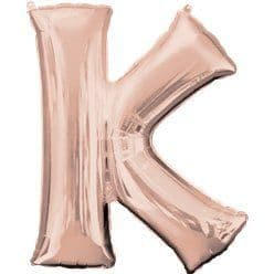 Rose Gold Letter K Balloon - 34