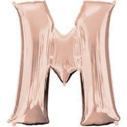 Rose Gold Letter M Balloon - 34