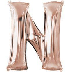 Rose Gold Letter N Air Filled Balloon - 16