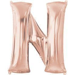 Rose Gold Letter N Balloon - 34