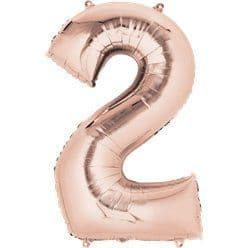 Rose Gold Number 2 Balloon - 34