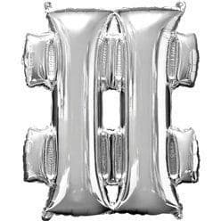 Silver Hashtag Shaped Balloon - 34