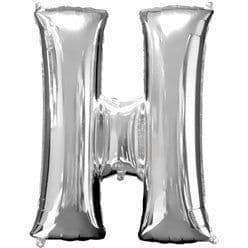 Silver Letter H Balloon - 16