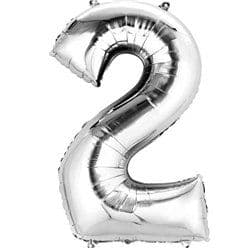 Silver Number 2 Balloon - 16