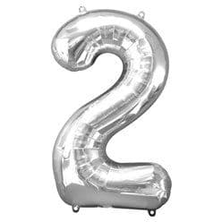 Silver Number 2 Balloon - 34