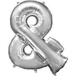 Silver & Shaped Balloon - 34